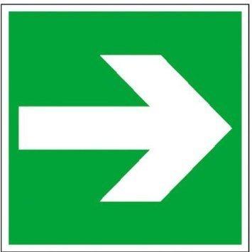 Rettungsschild Richtungspfeil rechts/links - 14,80x14,80cm DE907
