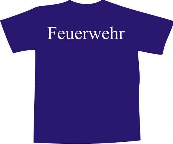 T-Shirt - Feuerwehr bedruckt - Brustaufdruck