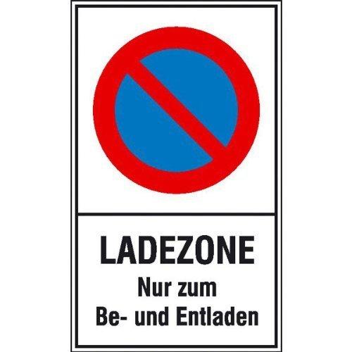 Eingeschränktes Halteverbot Text: Ladezone Nur zum Be- & Entladen - 25x40cm DE37