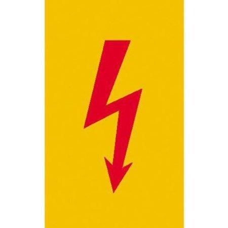 Spannungszeichen (Roter Blitz) - 7,40x14,80cm DE386