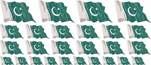 Mini Aufkleber Set - Pakistan