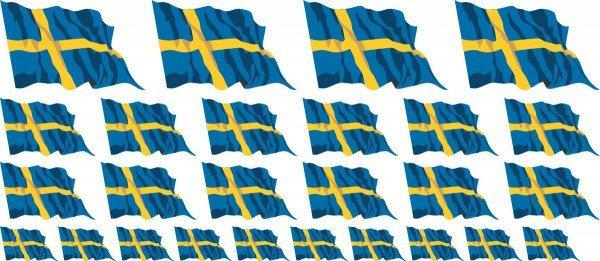 Mini Aufkleber Set - Schweden