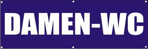 Werbeplane / Gerüstplane - p105 - Damen-WC - NEU - für Baustelle, Garten, Zaun oder Veranstaltung