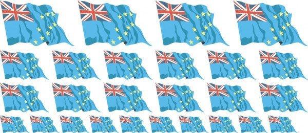Mini Aufkleber Set - Tuvalu