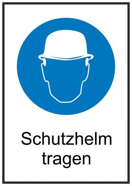 Schutzhelm tragen Gebotsschild 13,10x18,50 cm