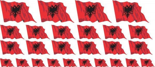 Mini Fahnen / Flaggen - Albanien
