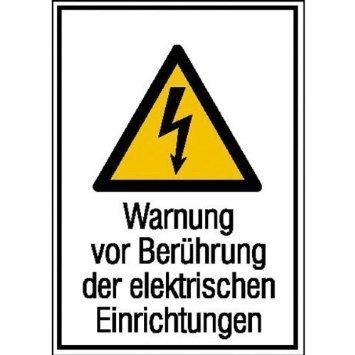 Warnung vor Berührung der elektrische - 13,10x18,50cm DE941