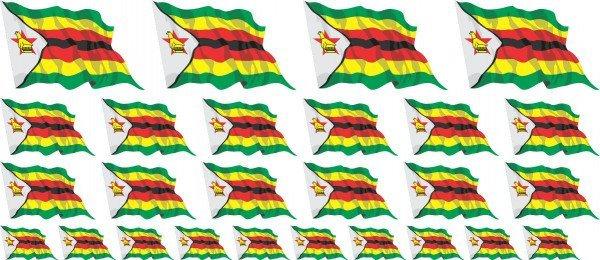 Mini Aufkleber Set - Simbabwe