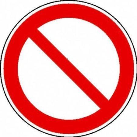 Verbot (allgemein) Verbotsschild, Büro Sicherheit Größe - 10cm DE421