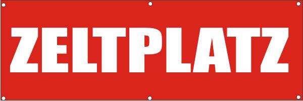Werbeplane / Gerüstplane - p101 - Zeltplatz - NEU - für Baustelle, Garten, Zaun oder Veranstaltung
