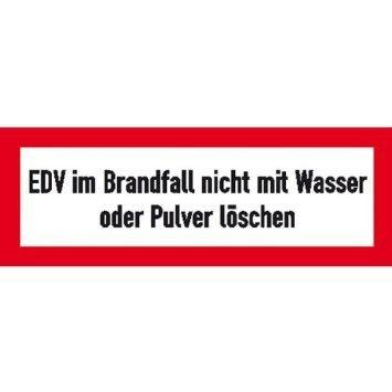EDV im Brandfall - 29,70x10,50cm DE938