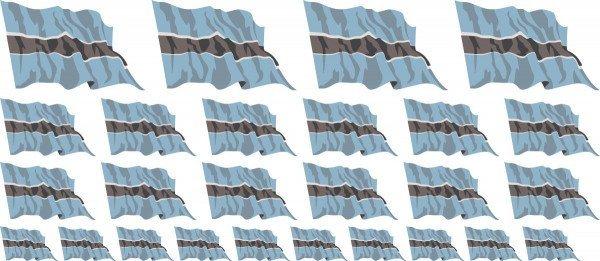 Mini Fahnen / Flaggen Botswana
