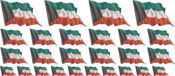 Mini Aufkleber Set - Kuwait