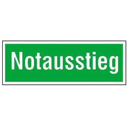 Rettungsschild Notausstieg - 40,0x14,0cm DE221
