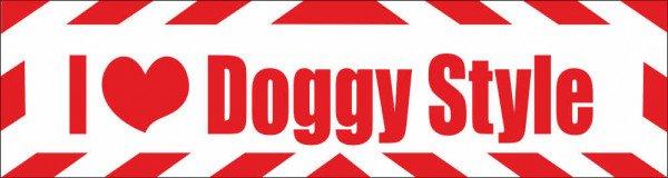 Magnetschild I Love Doggy Style