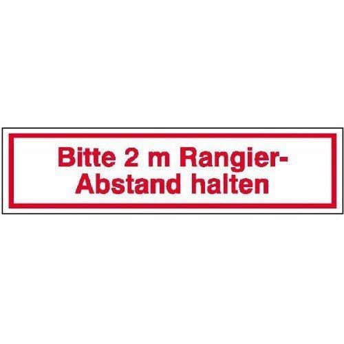 für Kfz Bitte 2 m Rangierabstand - 50x12,50cm DE40