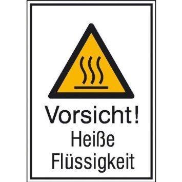 Vorsicht! Heiße Flüssigkeit - 13,10x18,50cm DE867