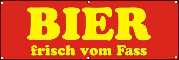 Werbeplane / Gerüstplane - p040 - Bier vom Fass - NEU - für Baustelle, Garten, Zaun oder Veranstaltu