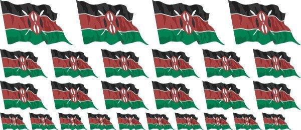 Mini Aufkleber Set - Kenia