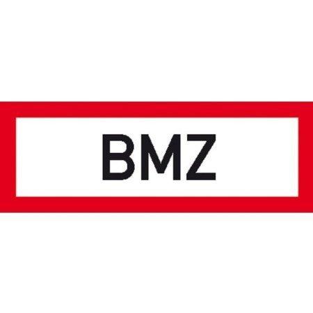 Hinweisschild für den Brandschutz BMZ - 42x14,80cm DE381