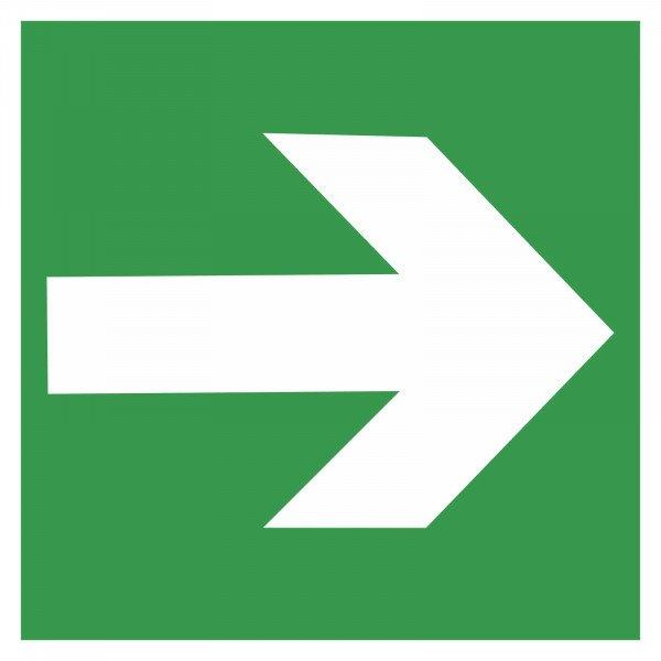 Rettungswege Richtungsangabe rechts bzw. links grün 15,0 x 15,0