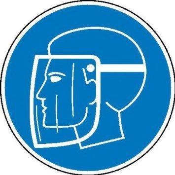 Gesichtsschutzschild benutzen Gebotsschild - 20cm DE885