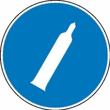 Druckgasflasche Gebotsschild - 20cm DE813