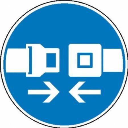 Sicherheitsgurt benutzen Gebotsschild - 10cm DE563