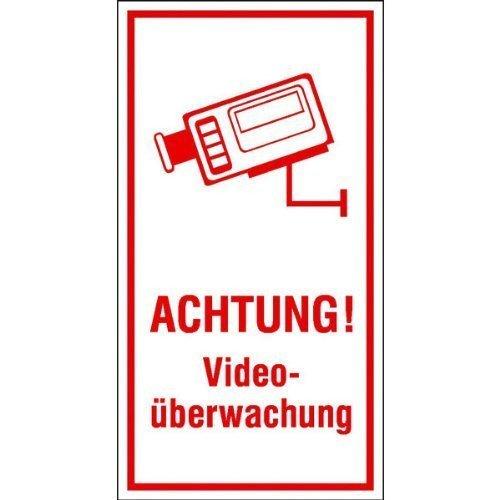 Achtung! Videoüberwachung - 8x15cm DE41