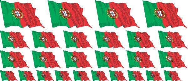 Mini Aufkleber Set - Portugal
