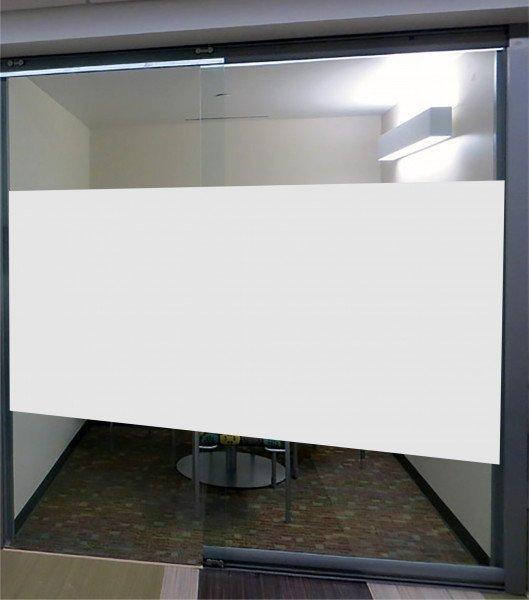 Glasdekor / Fensterfolie / Dekorationsfolie satin - Viereck zum großflächigen Abkleben