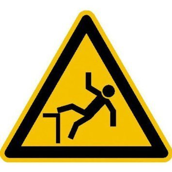 Warnung vor Absturzgefahr Warnschild - 10cm DE825