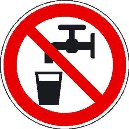 Kein Trinkwasser Verbotsschild, Büro Sicherheit - 10cm 8