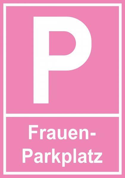 Parkplatzschild - Frauenparkplatz - 30x21 cm