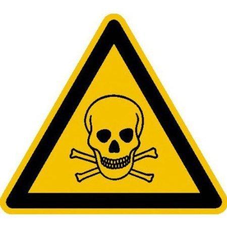 Warnung vor giftigen Stoffen Warnschild, Büro Sicherheit - 10cm DE545