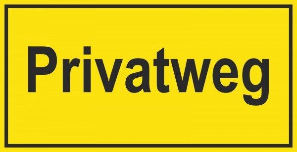 Privatweg Hinweisschild zur Grundbesitzkennzeichnung, 33x17 cm