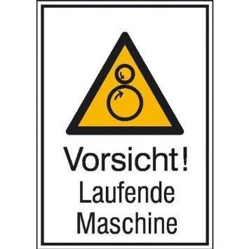 Vorsicht! Laufende Maschine - 13,10x18,50cm DE862