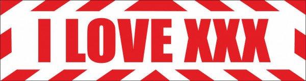 Magnetschild I love XXX