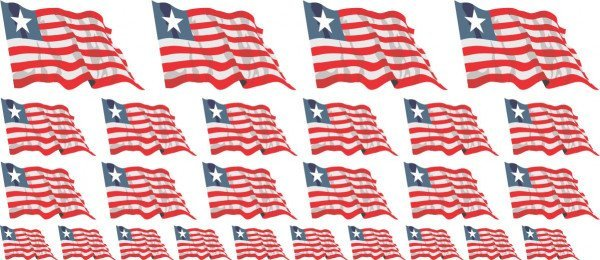 Mini Aufkleber Set - Liberia
