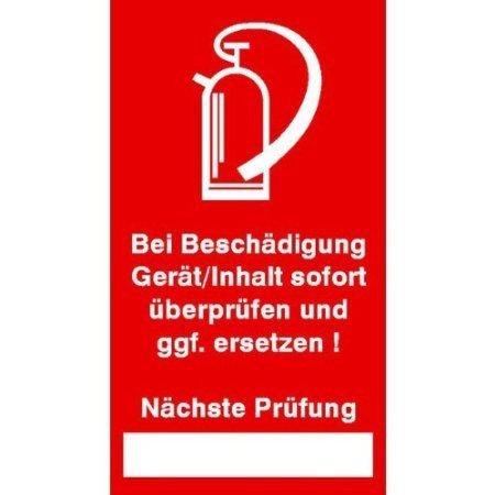 Prüfsiegel-Brandschutz - 9 Stk Bogen Folie 2,50x4,50cm - 2,50x4,50cm DE389