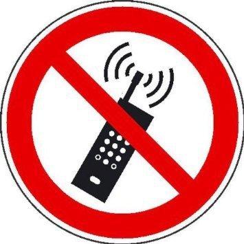 Mobilfunk verboten Verbotsschild - 20cm DE783