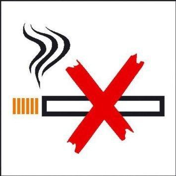 Rauchen verboten - 7x7cm DE859