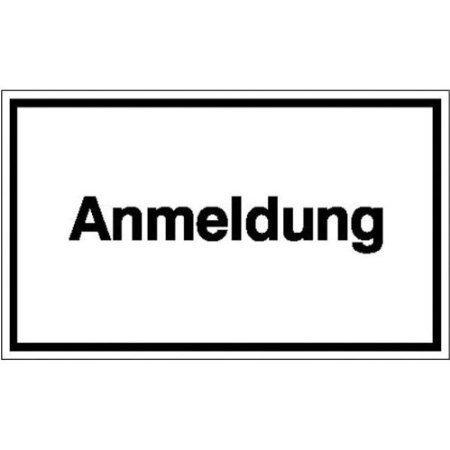 Anmeldung, Hinweisschild - 25,00x15cm DE523