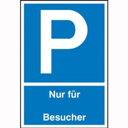 Parkplatzschild Nur für Besucher - 25x40cm DE367