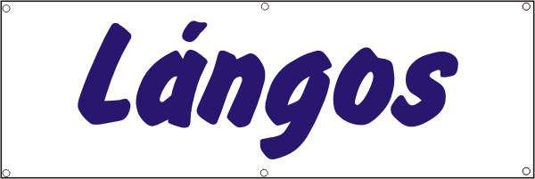 Werbeplane / Gerüstplane - p075 - Langos - NEU - für Baustelle, Garten, Zaun oder Veranstaltung