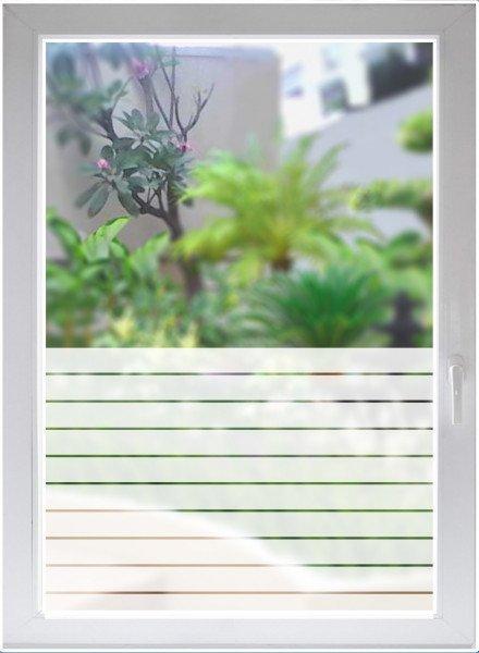 Fensterfolie Glasdekorfolie Sichtschutzfolie Streifen satiniert blickdicht ORACAL®