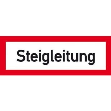 Hinweisschild für den Brandschutz Steigleitung - 21x7,40cm DE828