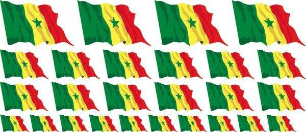 Mini Aufkleber Set - Senegal