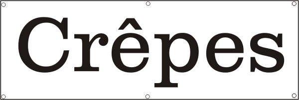 Werbeplane / Gerüstplane - p070 - CREPES - NEU - für Baustelle, Garten, Zaun oder Veranstaltung