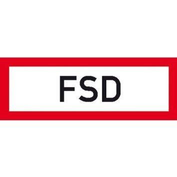 Hinweisschild für den Brandschutz FSD - 21x7,40cm DE849